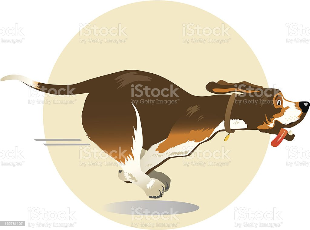 royalty free dog running clip art vector images illustrations rh istockphoto com Dog Running Silhouette cartoon dog running clipart