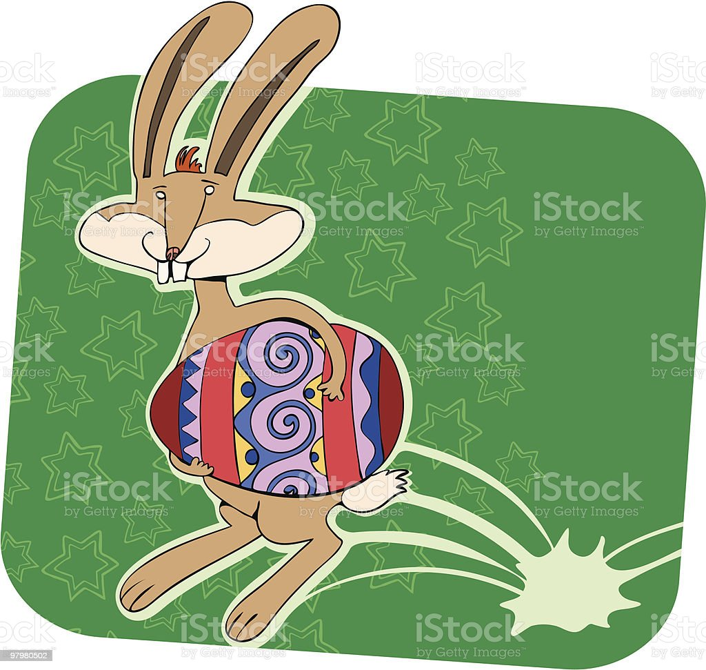 Running bunny royalty-free running bunny stock vector art & more images of animal egg