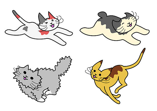 Royalty Free Cat Running Clip Art, Vector Images ... (612 x 434 Pixel)