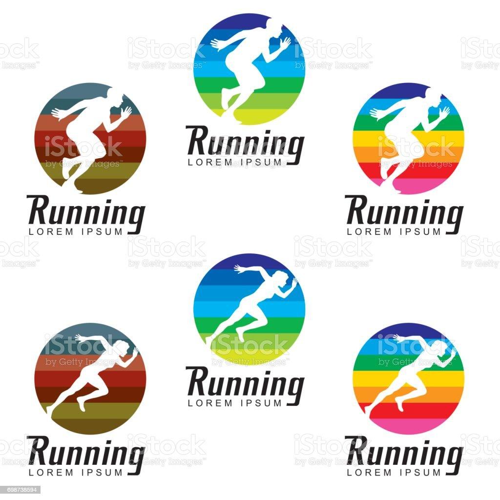 Running Clip Art Symbol vector art illustration