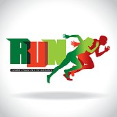 Vector illustration of silhouettes of woman and men athletes. Perfect for your copy space and personal mark.