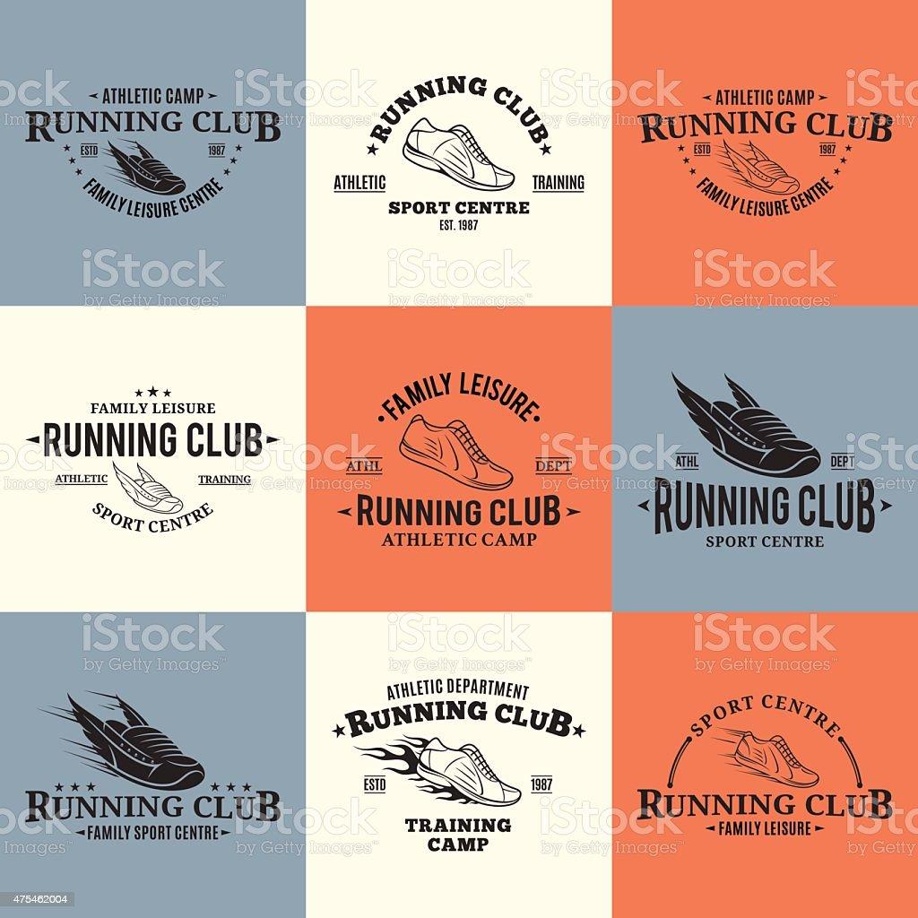 Correr Club plantillas de tarjetas y etiquetas ilustración de correr club plantillas  de tarjetas y etiquetas 6f62768a22f05