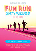 Poster for a fun run or running competition