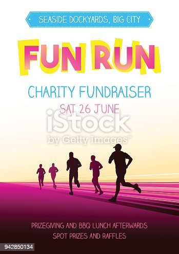 istock Running competition poster 942850134