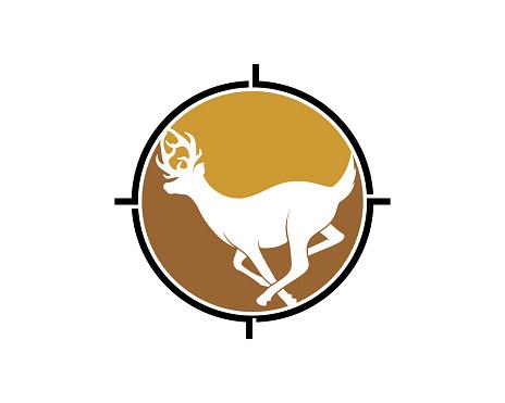 Running deer inside the shooting target