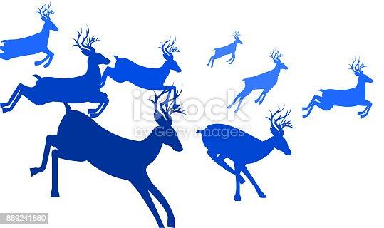 running deer silhouette stock vector art 889241860 istock