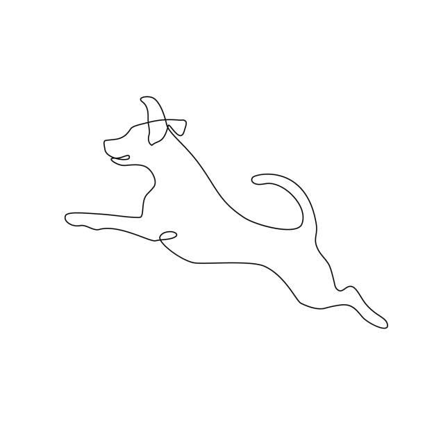 ilustrações de stock, clip art, desenhos animados e ícones de running dog - um animal