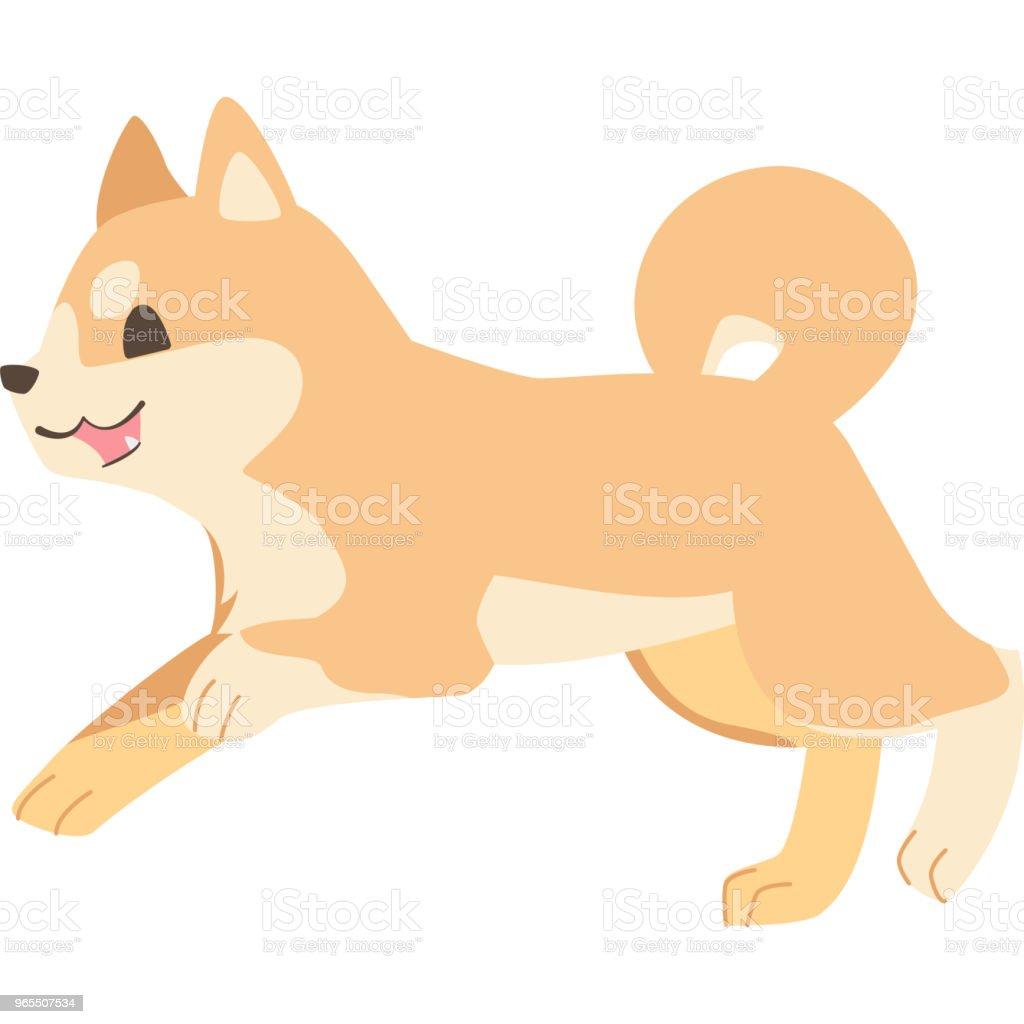走っている犬 (柴犬) ベクターアートイラスト