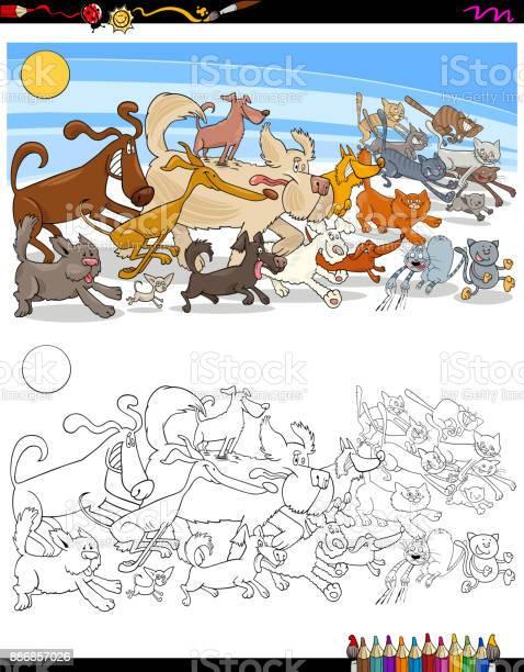 Running dogs and cats characters color book vector id886857026?b=1&k=6&m=886857026&s=612x612&h=ijz3ha0hn xcgejsoa tcpm0zawopbmkpvkbgqh3nkq=