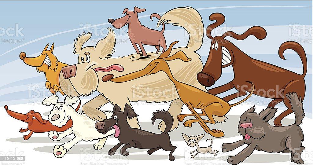 running dogs royalty-free stock vector art