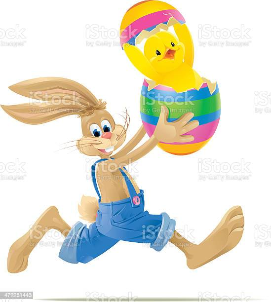 Running easter bunny with happy baby chick in egg vector id472281443?b=1&k=6&m=472281443&s=612x612&h=bdeg9lbl62yjxnhyhkjtryzmcojtcjbailpnmtowuck=