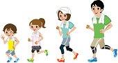 Running Family, Short sleeve