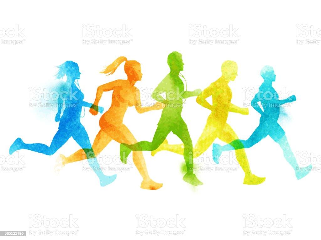 royalty free running clip art vector images illustrations istock rh istockphoto com Running Shoes Clip Art someone running clipart
