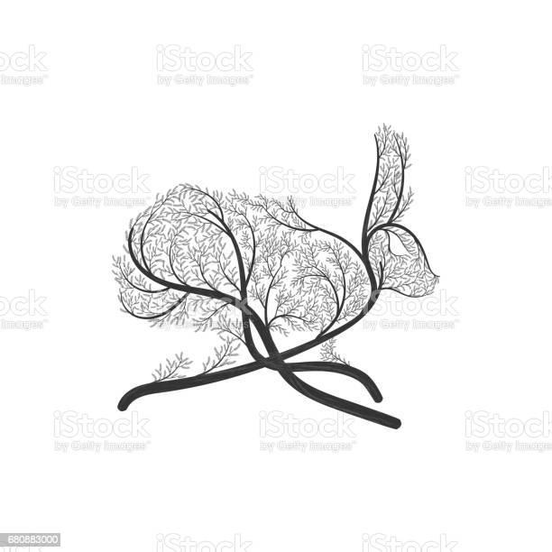 Running hare rabbit stylized bush vector id680883000?b=1&k=6&m=680883000&s=612x612&h=01jions oiaonvfrblmrwnf48a45s cjlr vfepijlk=