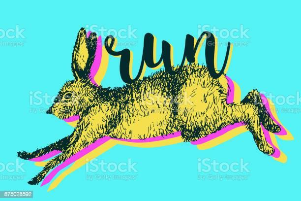 Running hare rabbit vector illustration hand drawn ink jumping bunny vector id875028592?b=1&k=6&m=875028592&s=612x612&h=wm2 hxfja1qftv29 ats4afrnrcb katazxh9oi9bvc=