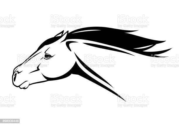 Running horse head black and white vector design vector id898306446?b=1&k=6&m=898306446&s=612x612&h=vbzgae elhw63nhjygnivjwq vkynpinarcnss8yjhy=