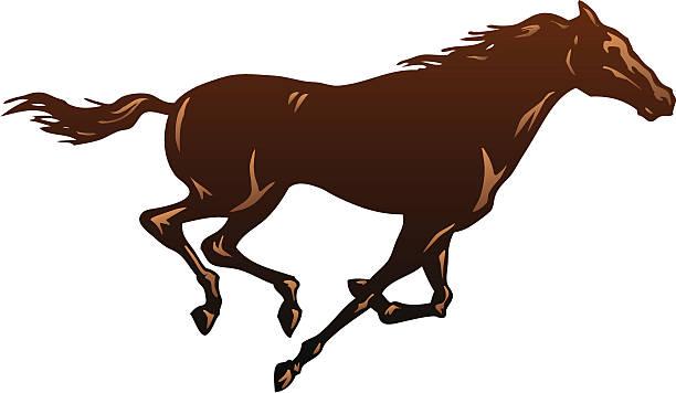 Running Horse One vector art illustration