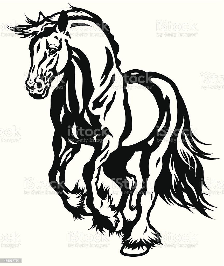 Running Horse Stock Illustration Download Image Now Istock