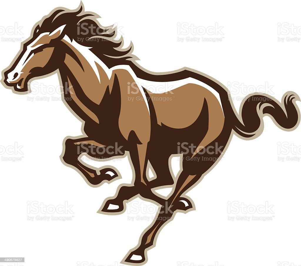 Running Horse vector art illustration
