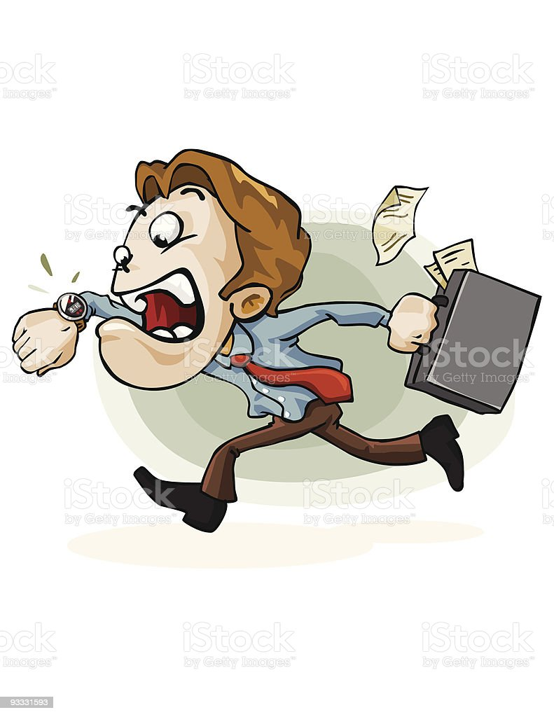Running. Late for Work royalty-free running late for work stock vector art & more images of business