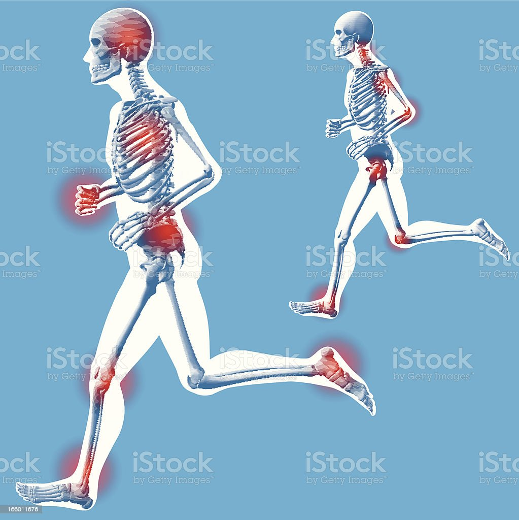 Running - 'Left Side View' royalty-free stock vector art
