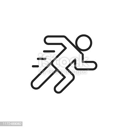 istock Running Line Icon. Editable Stroke. Pixel Perfect. For Mobile and Web. 1172489062