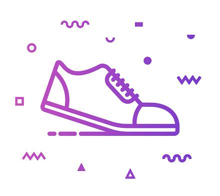 Running Line Style Icon Design