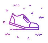 istock Running Line Style Icon Design 1154465992