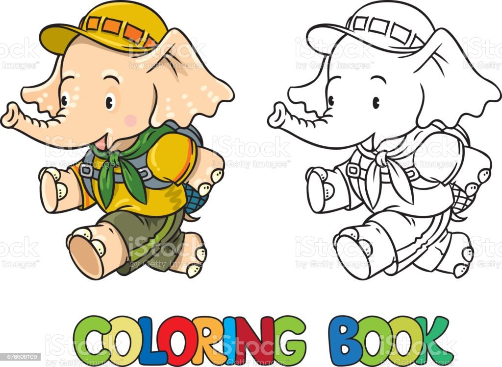 108+ Baby Elephant Coloring Book Free