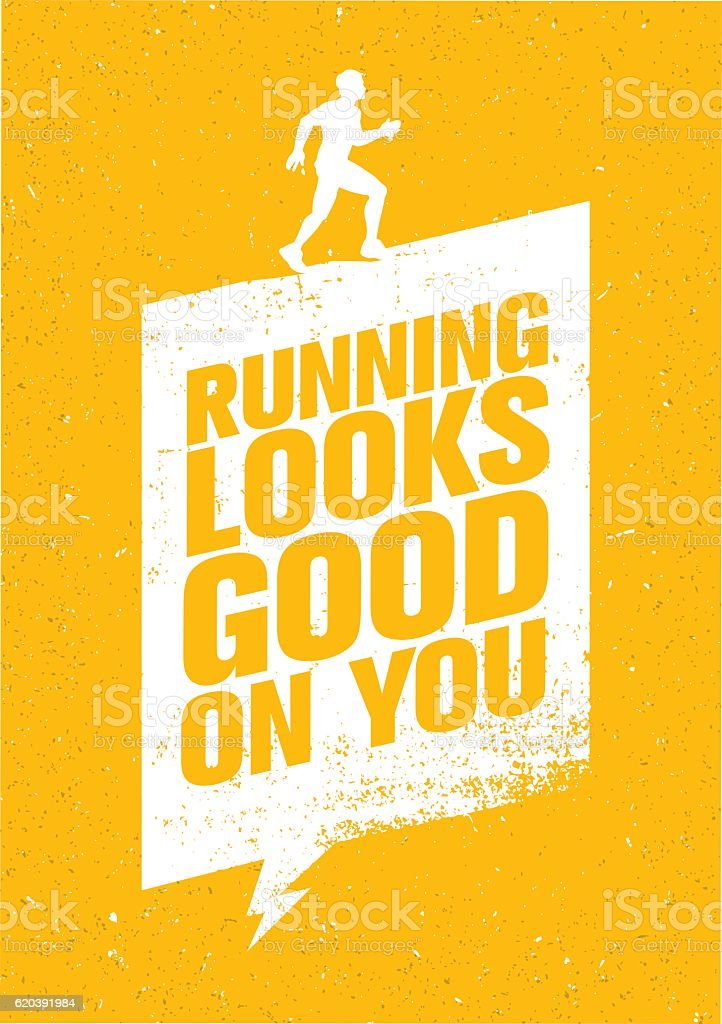 Running Looks Good On You vector art illustration