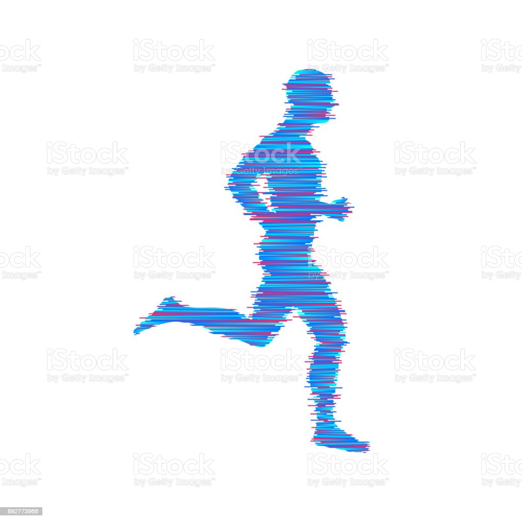 Running man. Design for sport and business. Vector illustration. vector art illustration