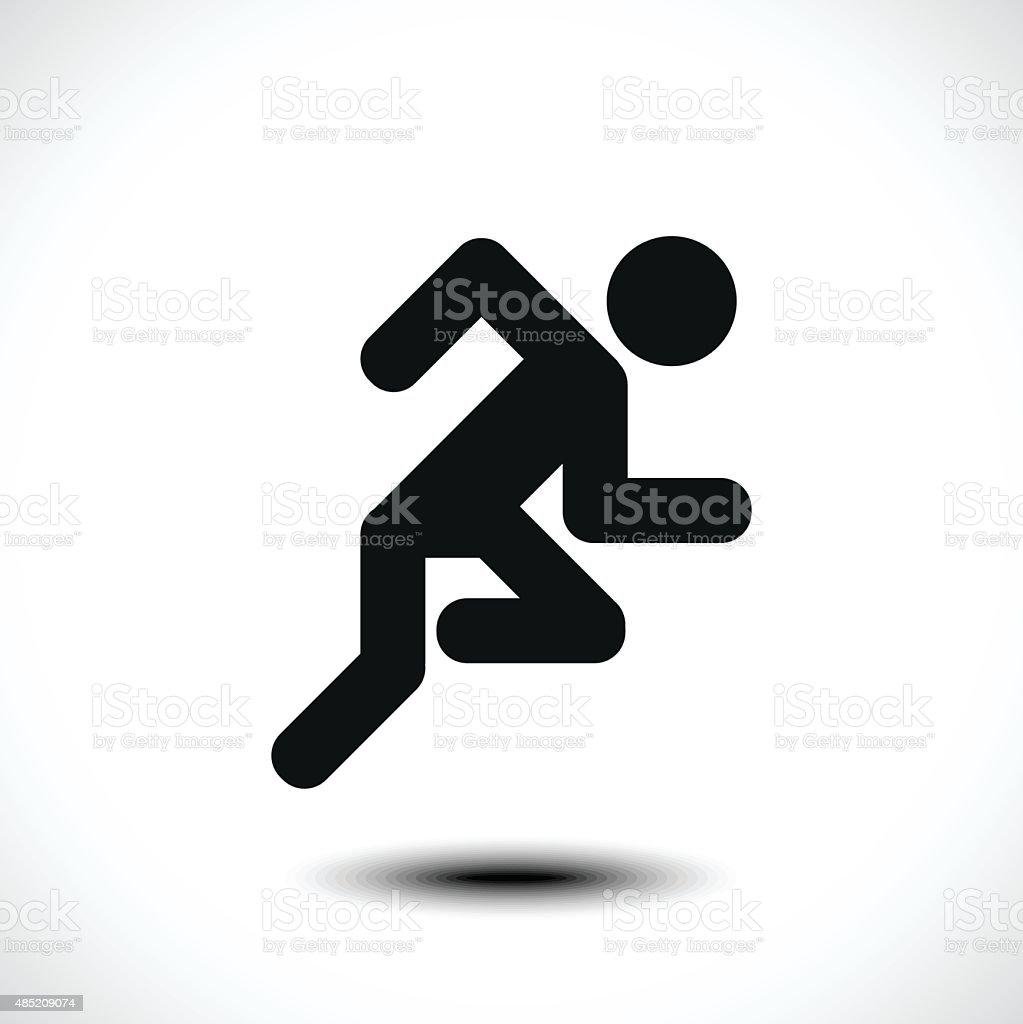 Hombre corriendo icono - ilustración de arte vectorial