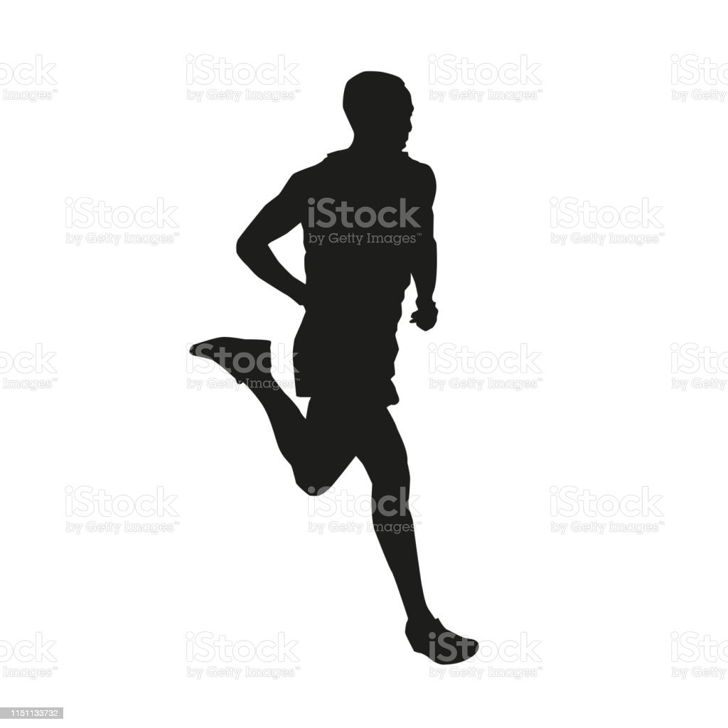 running man isolated vector silhouette side view marathon runner stock illustration download image now istock running man isolated vector silhouette side view marathon runner stock illustration download image now istock