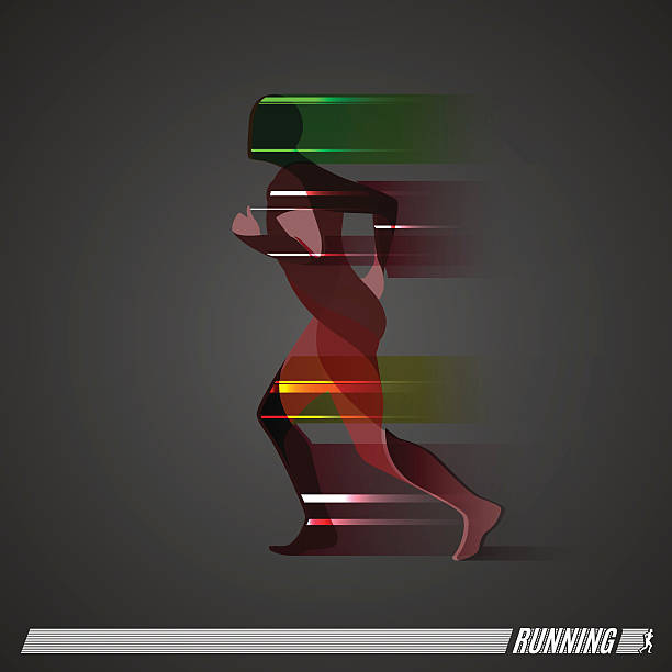 running man vector colorful icon - スポーツ医学点のイラスト素材/クリップアート素材/マンガ素材/アイコン素材