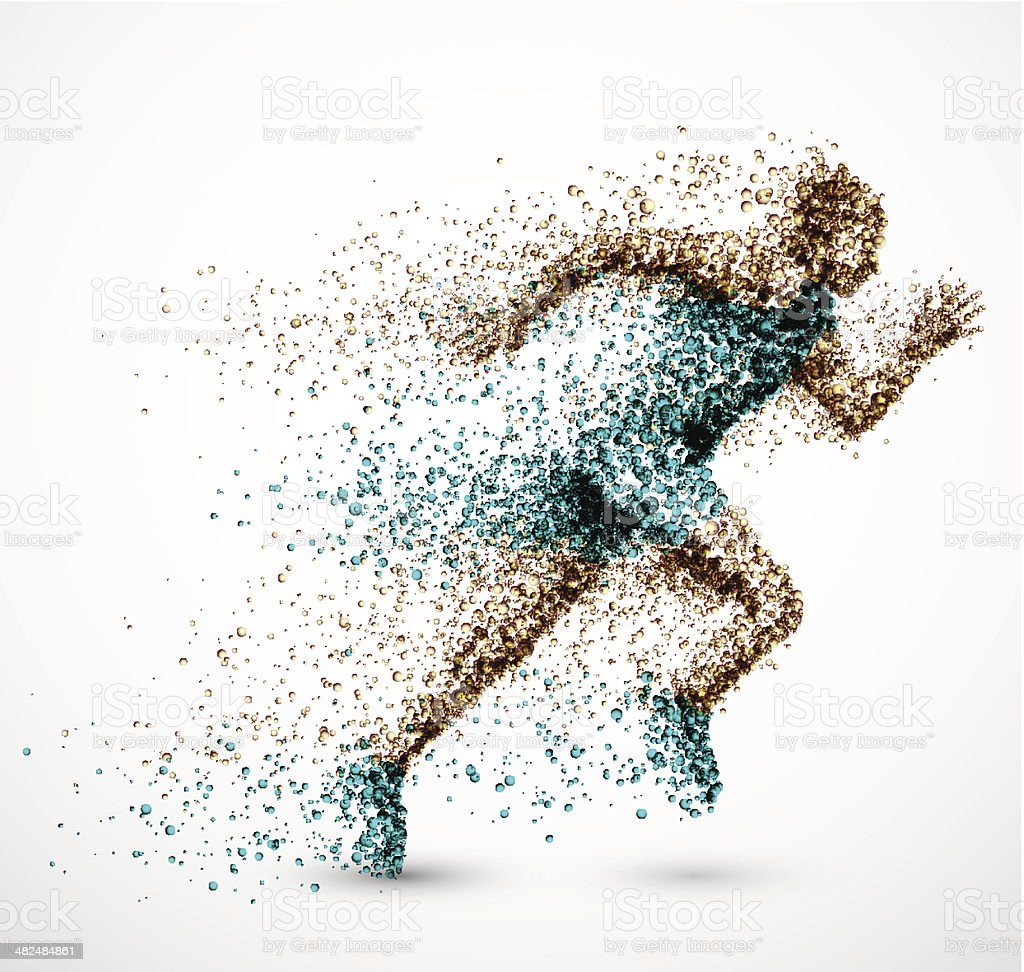 Running man vector art illustration