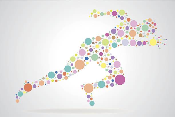 ランニングの男性 - 陸上競技点のイラスト素材/クリップアート素材/マンガ素材/アイコン素材