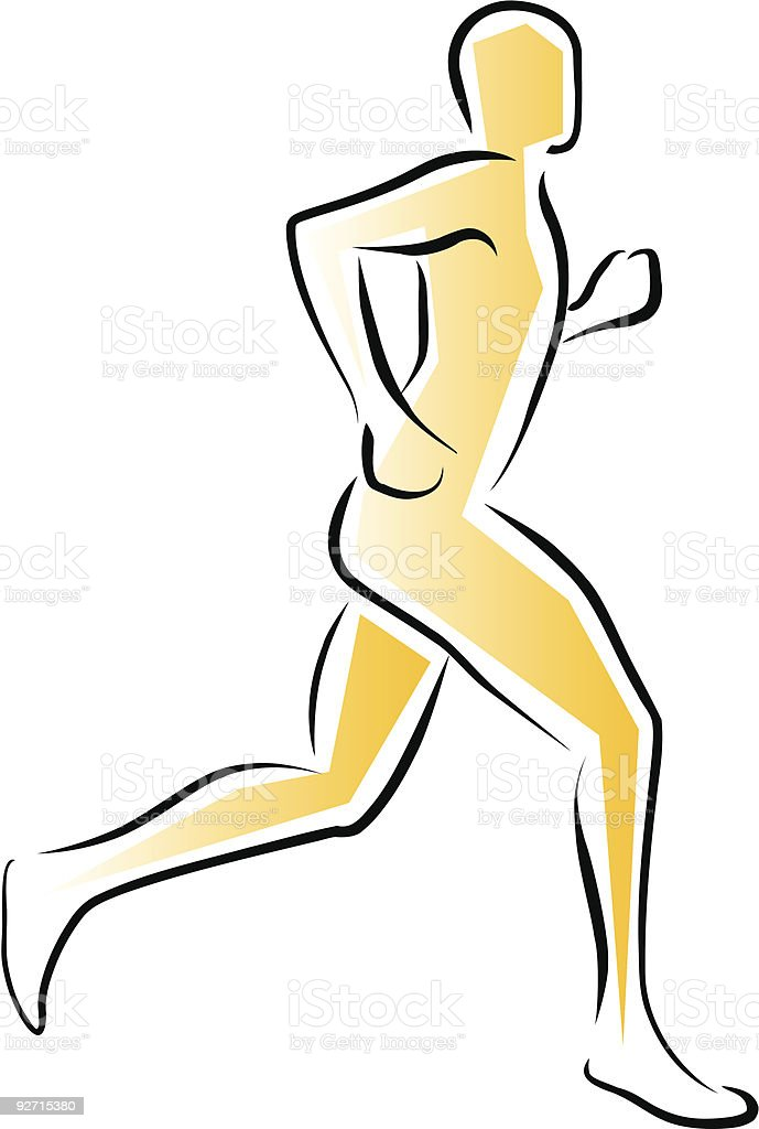 Running Man royalty-free running man stock vector art & more images of boston marathon