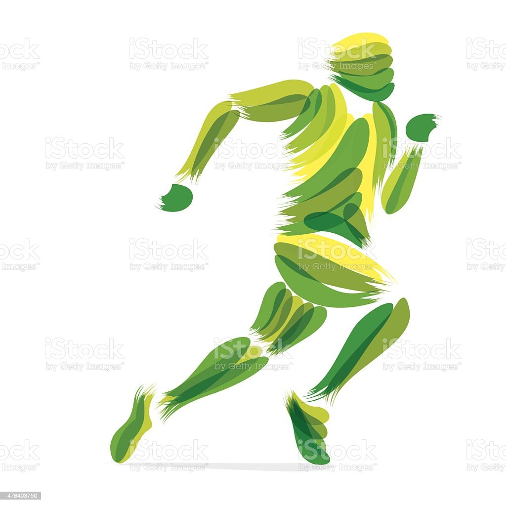 running men design vector art illustration