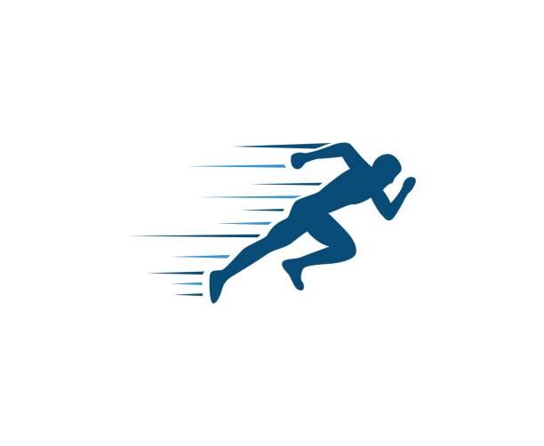 running men icon - running stock illustrations