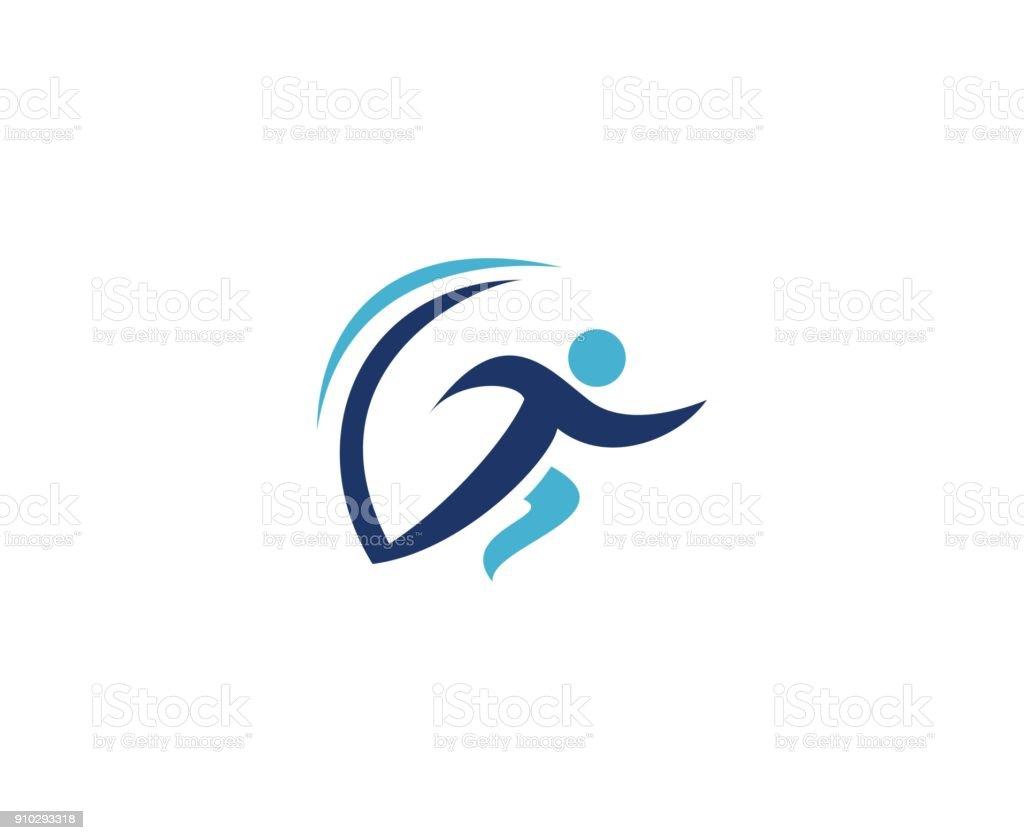 Running men icon vector art illustration