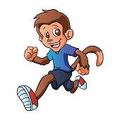 Running monkey .