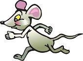 running mouse cartoon