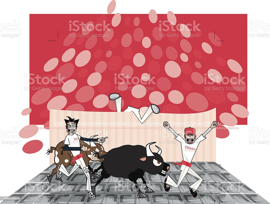 Running of the Fools (vector-yobs) royalty-free stock vector art