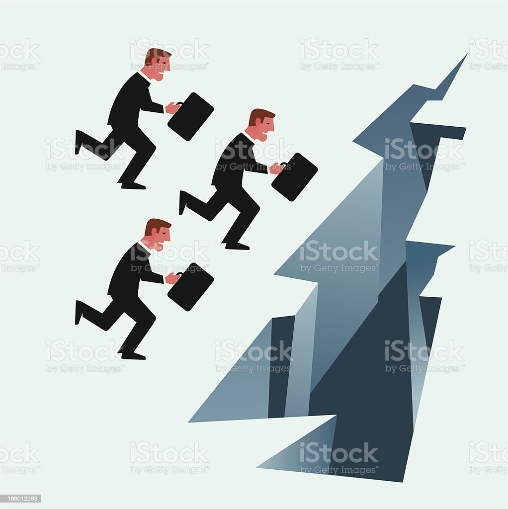 Running off a cliff royalty-free running off a cliff stock vector art & more images of adult