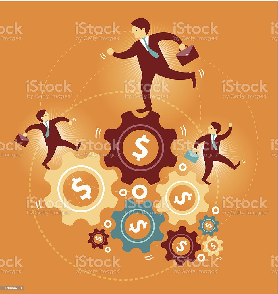 Running on the gear royalty-free running on the gear stock vector art & more images of activity