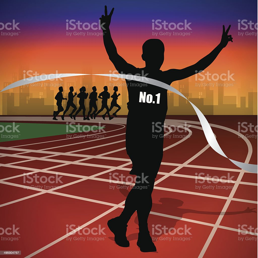 running on track vector royalty-free stock vector art