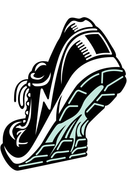 ilustrações, clipart, desenhos animados e ícones de corrida ou um calçado atlético - tênis