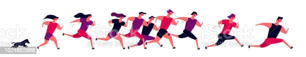 Running people group in motion jogging men women and dog training vector id1024652888?b=1&k=6&m=1024652888&s=612x612&h=i243dqkrkf1vfuki4ucqifejzubqjyzhpdaec81svj8=