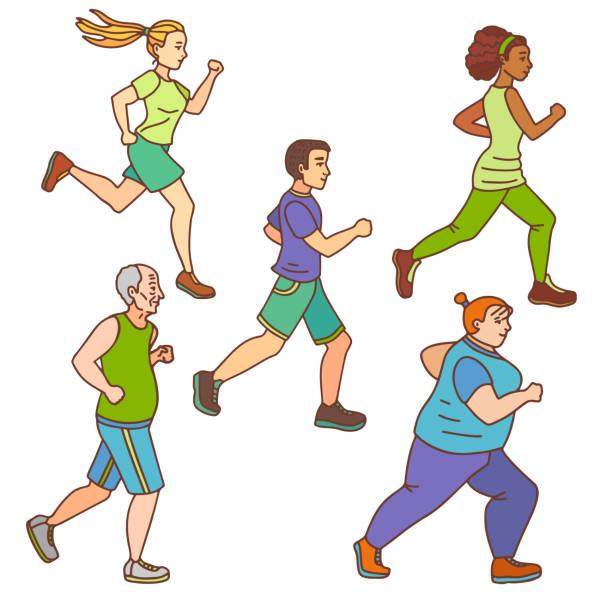 Personnes âgées et gymnastique. Illustration vectorielle