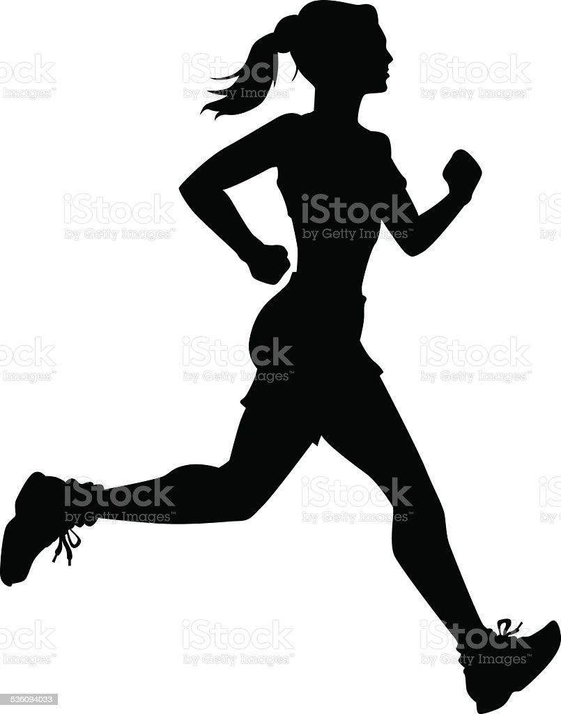 Running Person vector art illustration